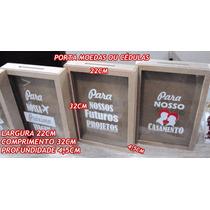 Quadro Cofre Porta Moedas Com Vidro E Adesivo Personalizado