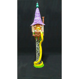 Rapunzel Torre Artesanal Decoracion De Tortas Porcelana Fria