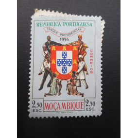 Selo Postal Antigo De Moçambique 2,5 Escudos 1954
