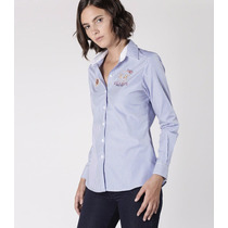 Camisa La Martina Mujer Semieq Ml Ftsia Guards Raya