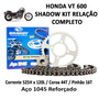 Kit Relação Completo Brandy Honda Vt 600 Shadow