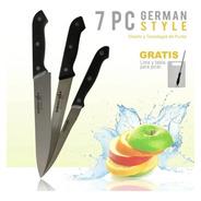Set De Cuchillos Estilo Alemán + Tabla Gratis