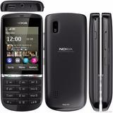 Celular Nokia Asha 300 Preto Tela Resistiva Câmera 5 Mp 1 Gh