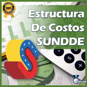Estructura De Costos Sundde - Plantilla Hoja Excel Precios