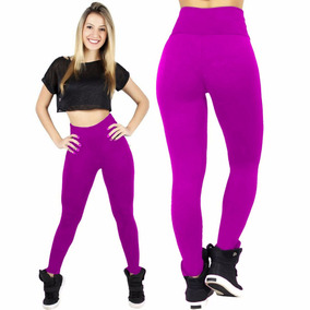 Calça Leg Suplex Legging Kit 5 Unidades Fitness Cores Lisas