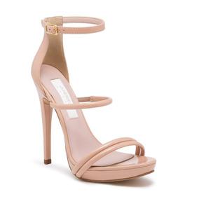 _ _sandalia Ankle Strap Andrea Rosa Tacon 13 Cm 2434803