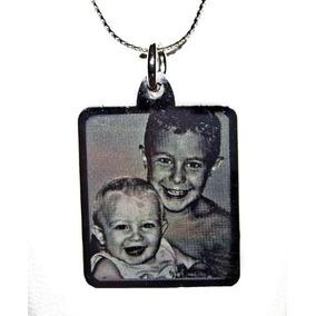 Foto Medalla Acero Quirurgico Personalizada 20x22mm Grande