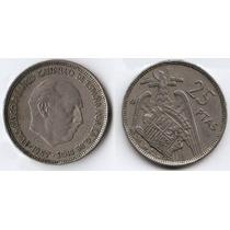 España 1957 ( 58 ) Moneda 25 Pesetas De Cuproniquel