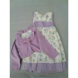 Vestido Infantil 2 E 4 Anos Em Tricoline 100% Algodão