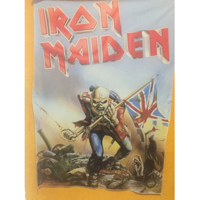 Poster Bandeira Banda Iron Maiden The Trooper Rock In Rio