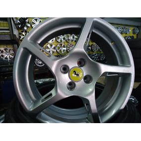 Roda 15 Ferrari Prata 4x100 Celta Gol Palio Valor De 2 Rodas
