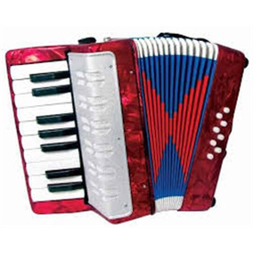 Acordeom Sanfona Gaita Infantil 17 Teclas 8 Baixos Musical