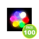 Pack 100 Globos Led Color Surtidos, Helio-aire / Fernapet