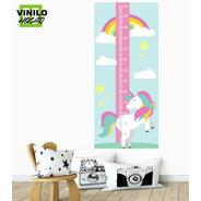 Vinilo Decorativo Medidor Infantil Unicornio 2
