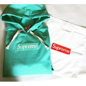 Hoodie Supreme Aqua Box Logo +gratis Envio