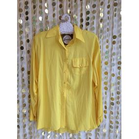 Camisa De Fibrana Por Talle Amarilla Talle Grande L Y Xl