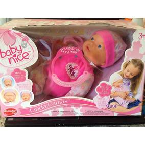 Muñeca Con Accesorios Baby Nice Llora Expresiones Original