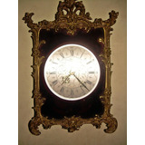Reloj Antiguo De Bronce En Relieve Elomatic Made In France