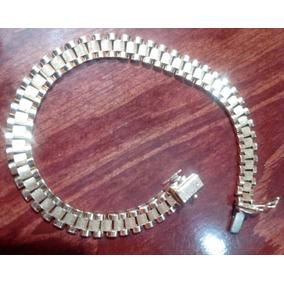 Esclava Pulsera De Oro 14k Tejido Rolex Envio Gratis