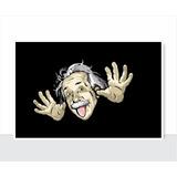 Placa Decorativa - Engraçada - Einstein