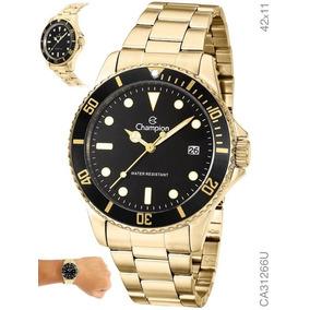 Relógio Masculino Dourado Banhado Ca31266u Aprova D