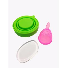 Copa Menstrual + Vaso Esterilizador + Silisponge +bolsa