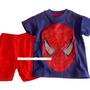 - spiderman hombre arana azul manga corta verano tipo marvel