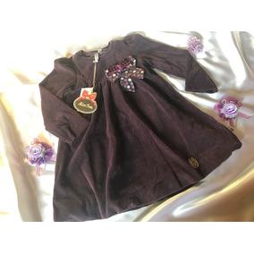 Vestido Infantil Tam. 18 Meses Roxo - Turma Da Malha
