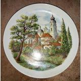Lindo E Raro Prato De Porcelana Schmidt - Coleção Europa