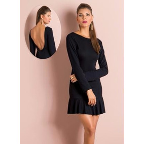 Vestido Curto Manga L Panicat Chic Costas Nuas Courage.by