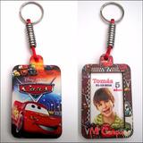 Llavero Souvenir Portaretrato Cumple Mickey Cars Peppa Minie