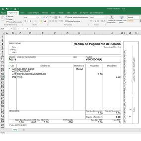Holerite Contracheque 100% Editável Excel