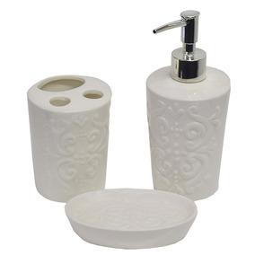Kit Para Banheiro Elegance Arabescos - 3 Peças - Wincy
