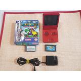 Game Boy Advance Rojo Con 2 Juegos Y Cargador.