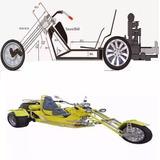 Planos Moto Tricilco Tribickers Motocicleta 3 Ruedas Standar