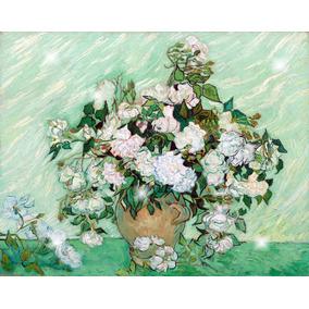 Lienzo Tela Canvas Vincent Van Gogh Rosas 90 X 114 Cm