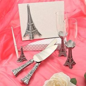 Set De Pala /cuchillo Álbum Copas Pluma Torre Eiffel