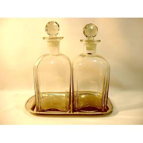 Par De Garrafas Em Cristal Europeu Para Vinho Ou Whisky