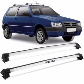 Rack Teto Fiat Uno 2005 A 2013 4 Portas Eqmax Wave Prata