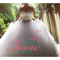Vestido Noiva Debutante Princesa Luciana Manga Pronta Entreg