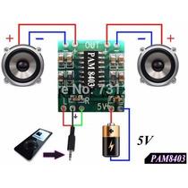 Mini Amplificador Estéreo 2x3w Pam 8403 Arduino Frete R$7,50