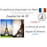 Fiesta Tematica De Paris Francia Torres Eiffel De 9x25