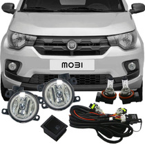 Kit Farol De Milha Neblina Auxiliar Fiat Mobi 2016 /...