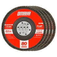 Disco Flap 115 Mm Oxido De Aluminio Grano 80 Pack X 10 Omaha
