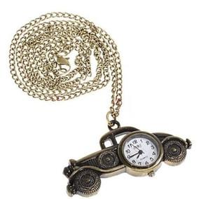 Colar Cordão Corrente Relógio Carro Ouro Velho Pingente 398
