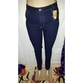 Calça Jeans Skinny Azul Escuro Plus Size Cheris Tamanho 54