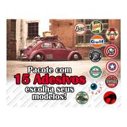 Adesivos Retro Antigos Vintage Automotivos Diversos (15un)
