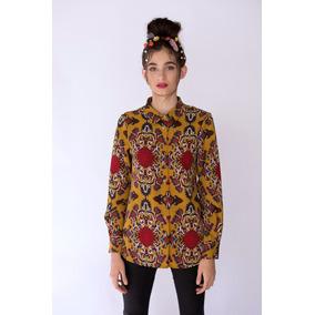 Camisa Mujer Temel Manga Larga Estampada Paudan