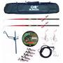 Pesca - Kit 2 Vara Telescópicas+porta Varas+linha+acessórios