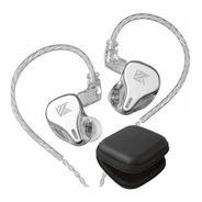 Kz Dq6 Audifonos Sin Micro + Estuche Full Silver Plateado